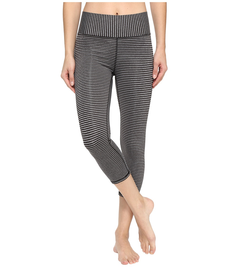 Champion Absolute Capris (Black Heather Stripe) Women