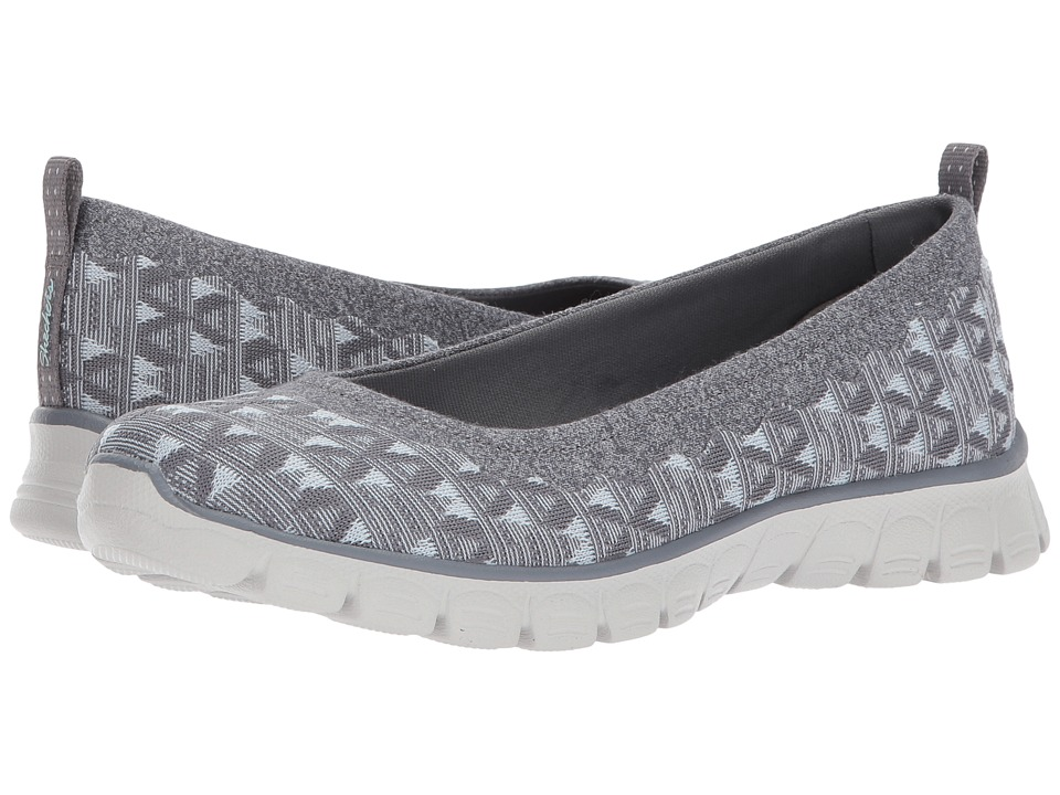 SKECHERS - EZ Flex 3.0 - Wild N' Free (Gray) Women's Shoes