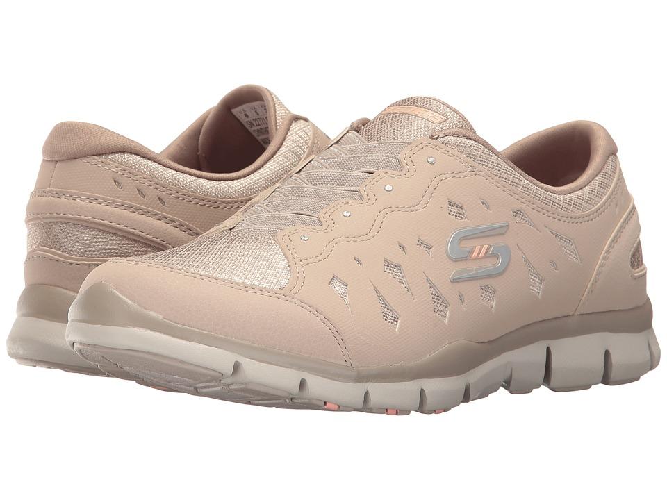 SKECHERS - Gratis - Light Heart (Taupe) Women's Shoes