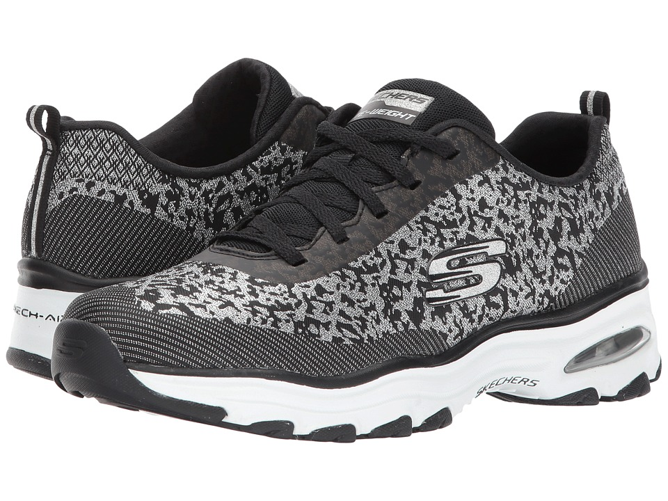 SKECHERS - D'Lites Air (Black/Silver) Women's Shoes