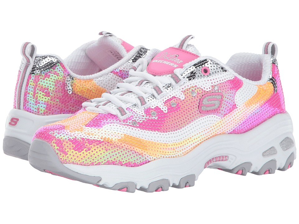 SKECHERS - D'Lites (Pink/White) Women's Lace up casual Shoes