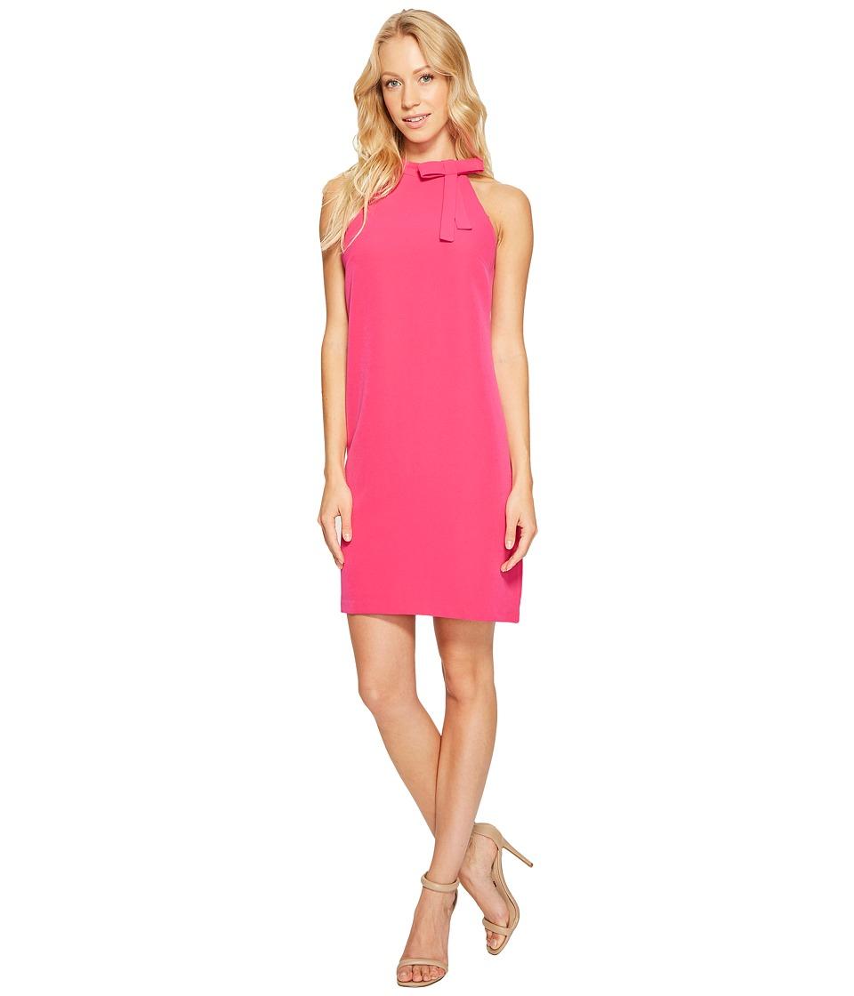 Maggy London - Halter Shift Dress with Necktie (Pink Pozie) Women's Dress