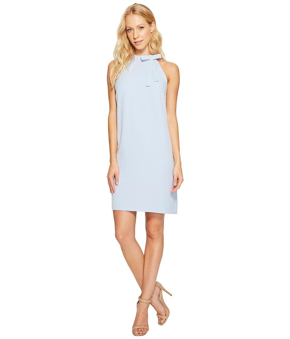 Maggy London - Halter Shift Dress with Necktie (Sky Blue) Women's Dress
