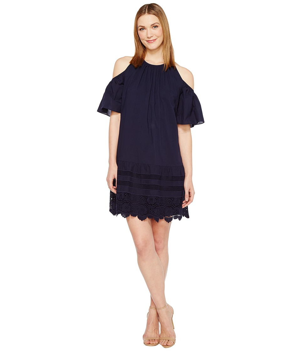 Maggy London - Cold-Shoulder Shift Dress (Navy) Women's Dress