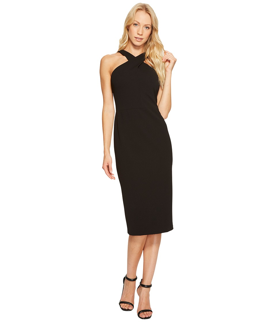 Maggy London - Cross Neck Halter Sheath Dress (Black) Women's Dress
