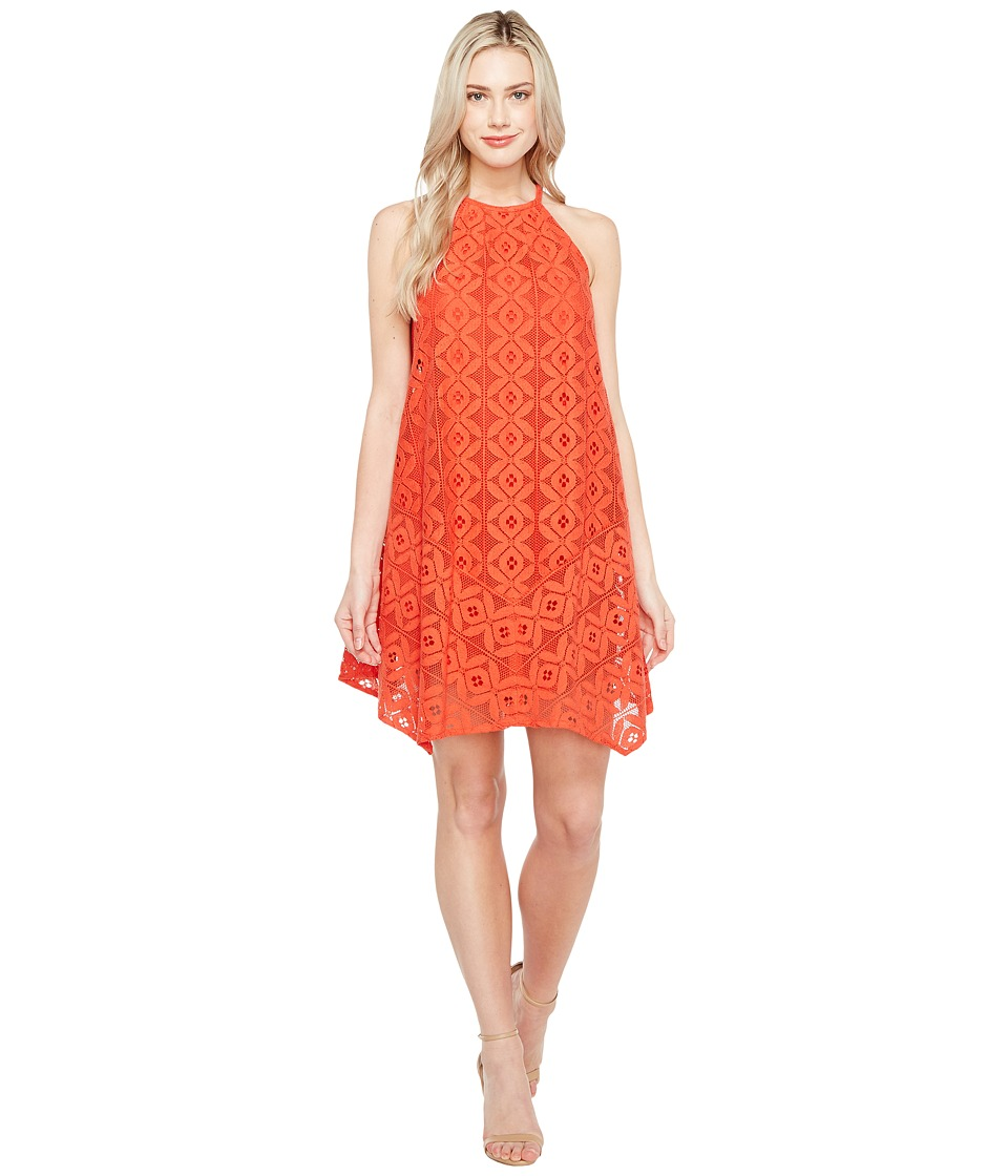 Maggy London - Handkerchief Hem Swing Shift Halter Dress (Cayenne) Women's Dress