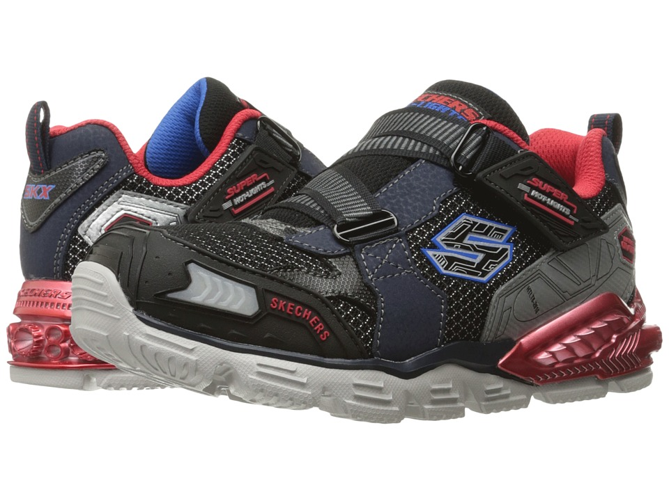SKECHERS KIDS - Orbiters 90590L Lights (Little Kid) (Navy/Red) Boys Shoes
