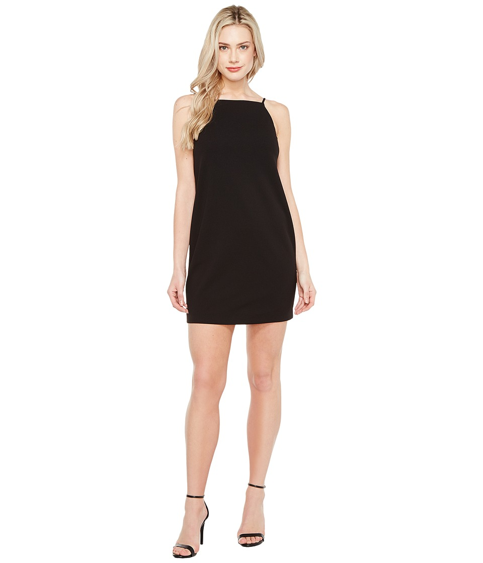 Maggy London - Open Back Crepe Scuba Shift Dress (Black) Women's Dress