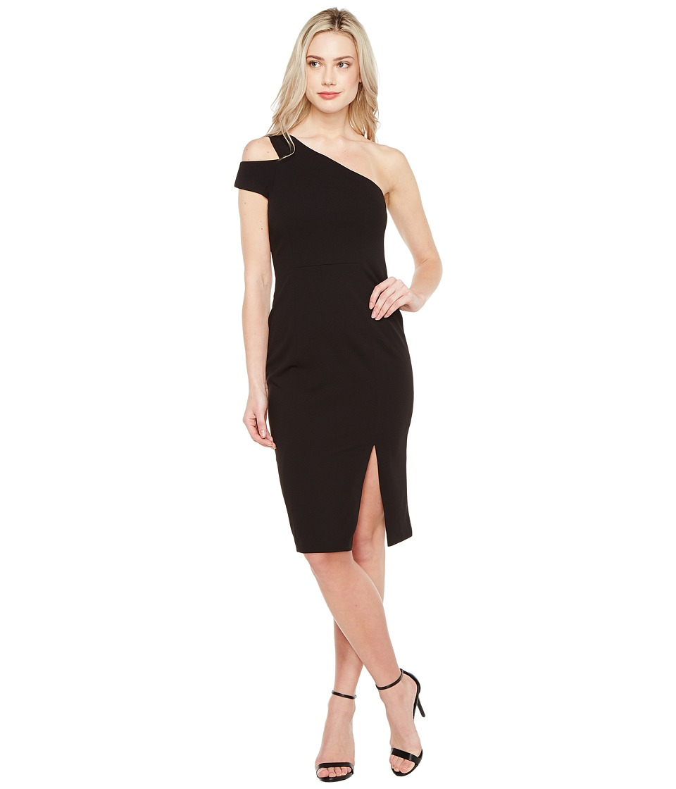 Maggy London - Crepe Scuba One Shoulder Dress (Black) Women's Dress
