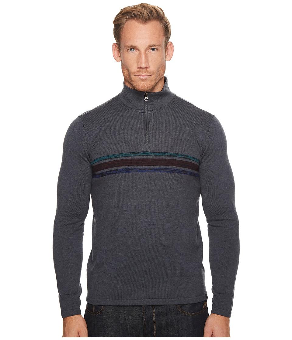 Prana Holberg 1/4 Zip Sweater (Coal) Men
