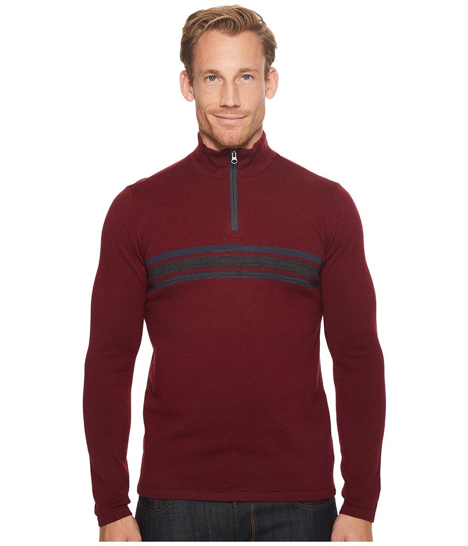 Prana Holberg 1/4 Zip Sweater (Nocturnal Red) Men