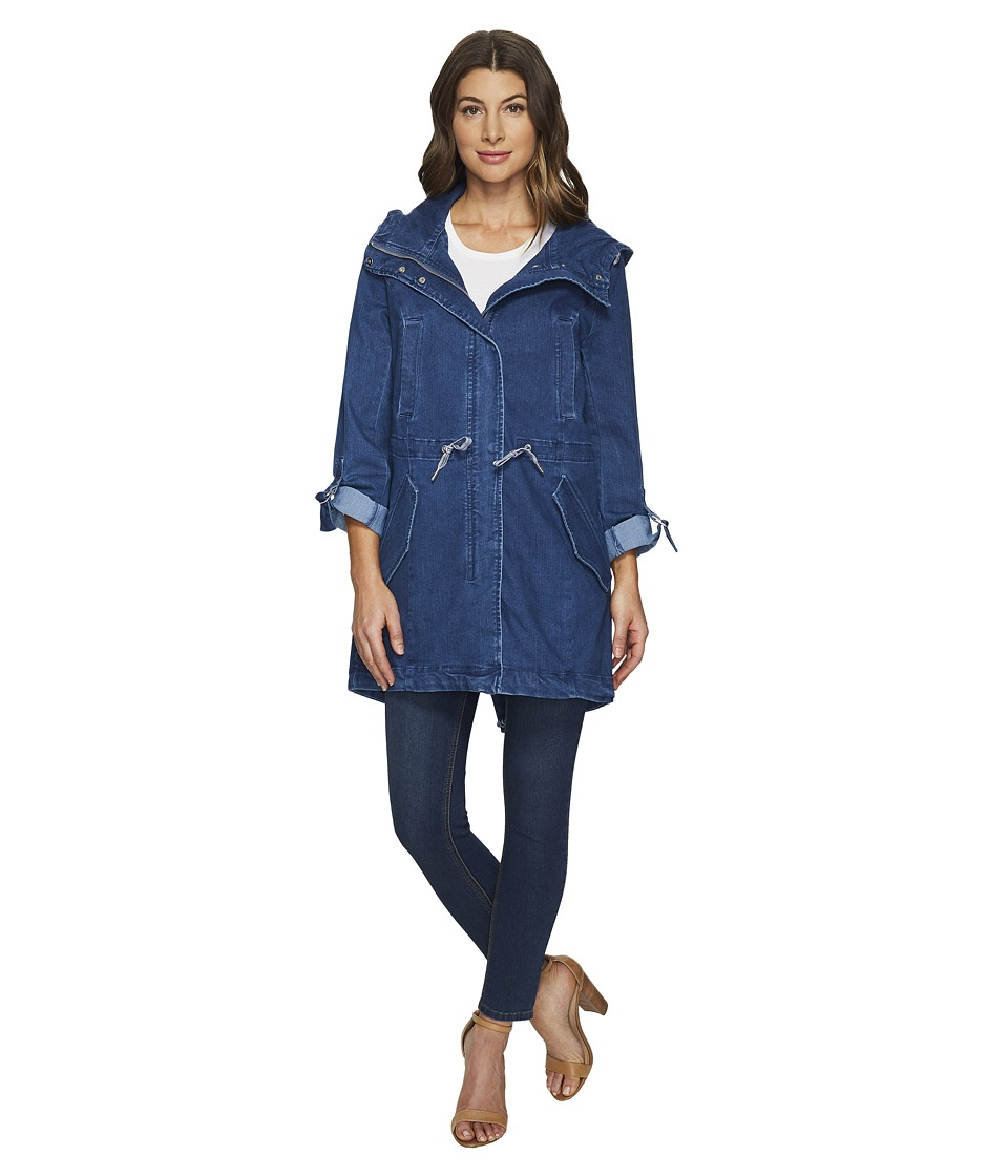 "Marc New York by Andrew Marc - Dakota Denim 35.5"" Anorak (Blue) Women's Coat"