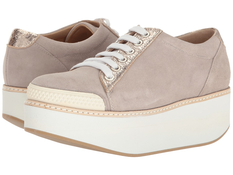 Shellys London - Kirk Platform Oxford (Grey Suede) Women's Shoes
