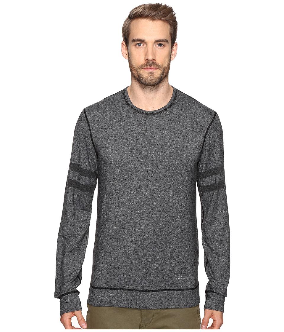 Splendid Mills Easy Lounge Crew Neck Sweatshirt (Black) Men
