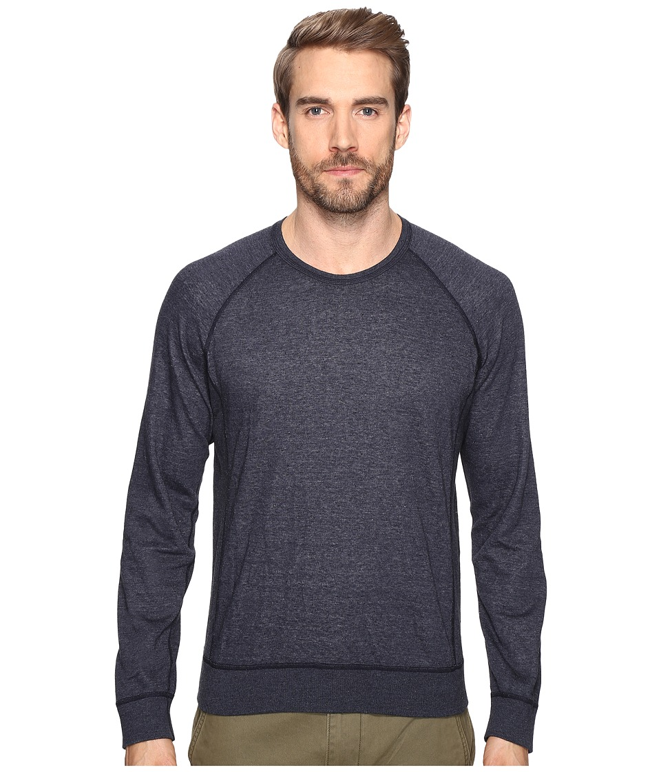 Splendid Mills - Double Face Crew Neck Sweatshirt (Navy) Men's Clothing