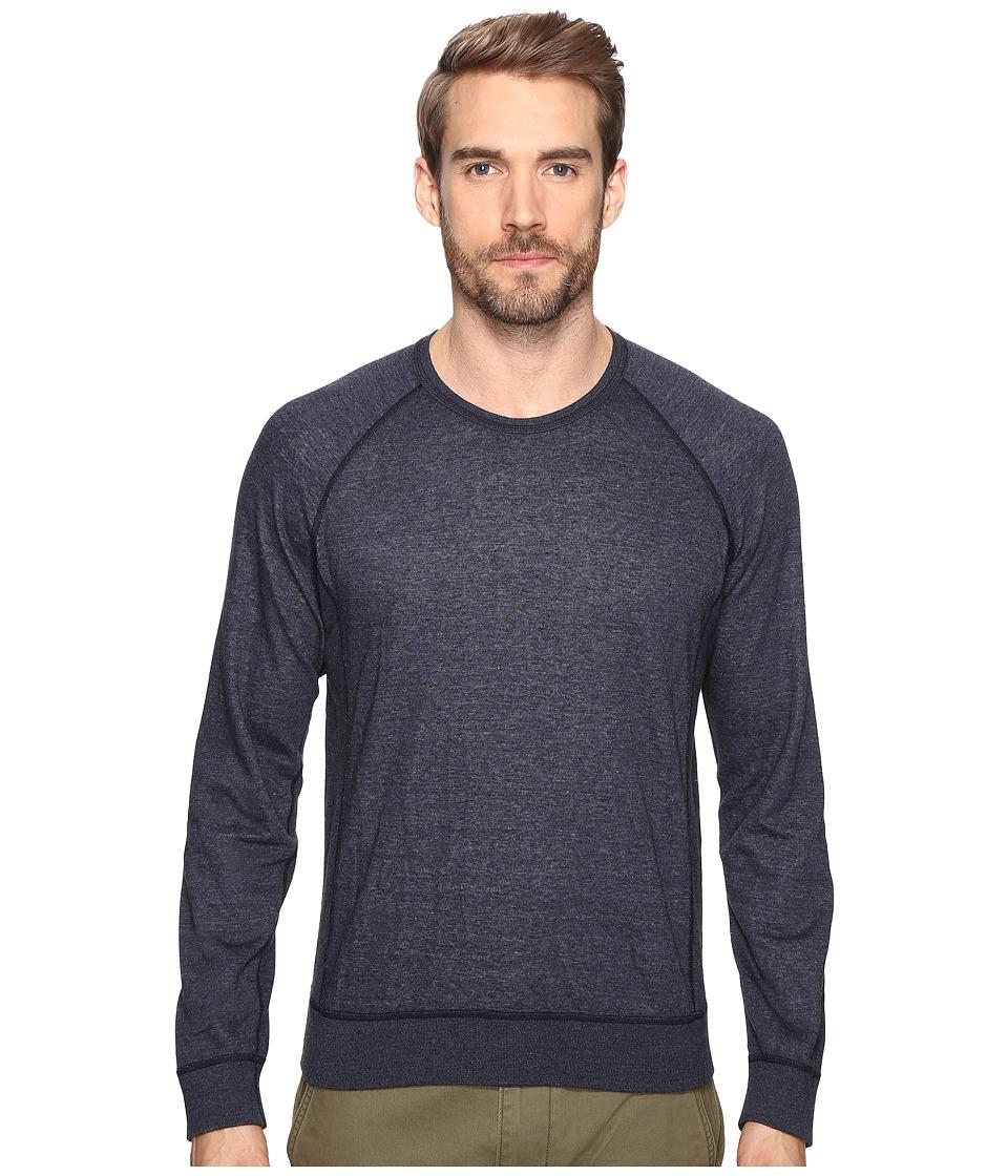 Splendid Mills - Double Face Crew Neck Sweatshirt (Navy) Men's Clothing