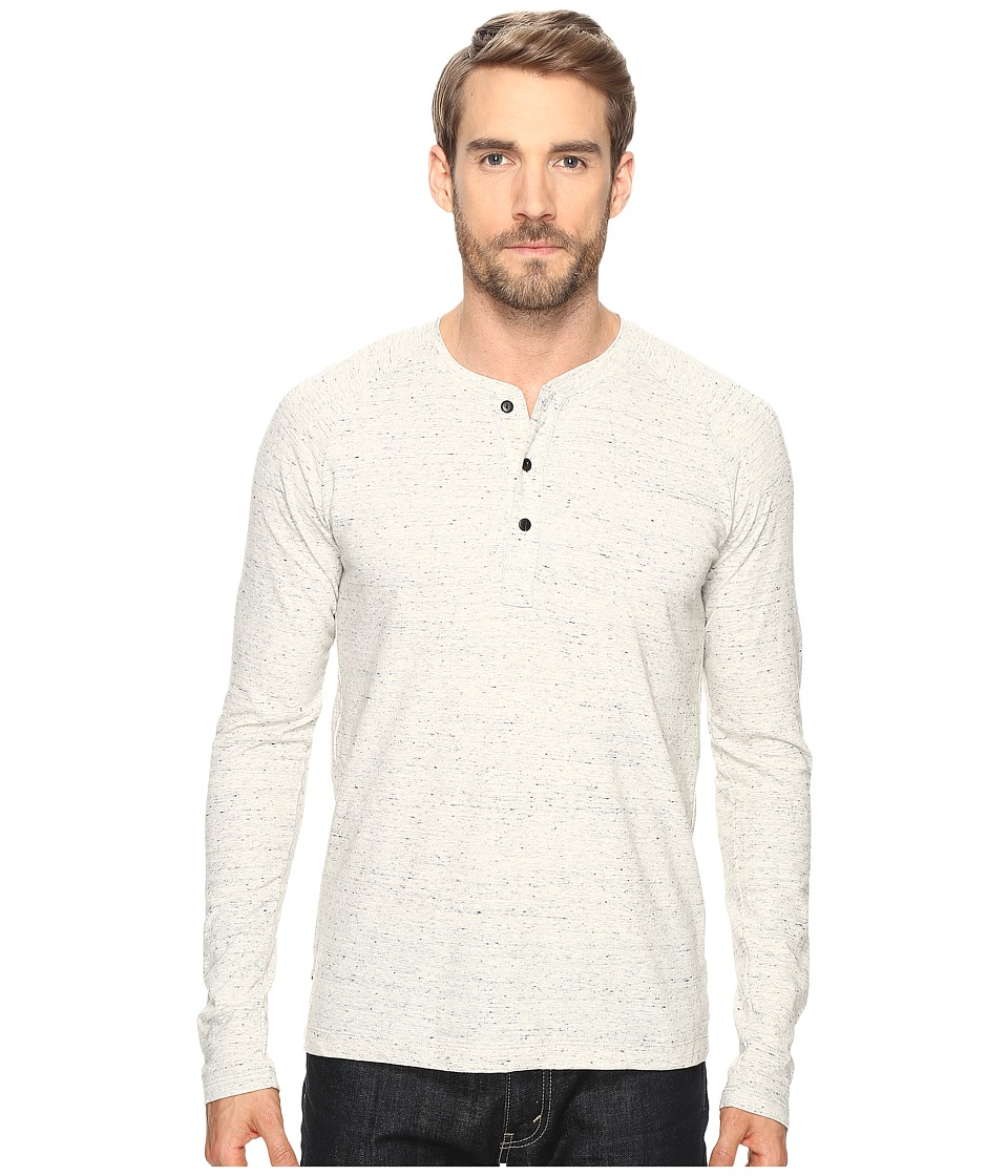 Splendid Mills - Long Sleeve Raglan Henley (Slate) Men's Clothing