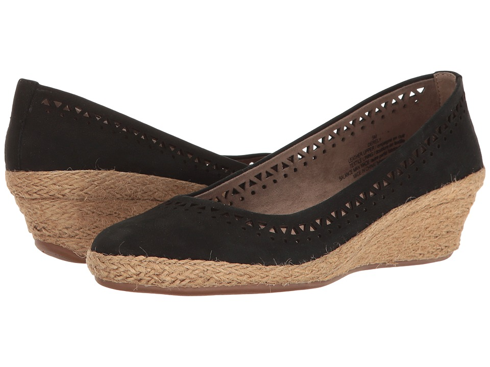 Easy Spirit - Derely (Black Nubuck) Women's Shoes