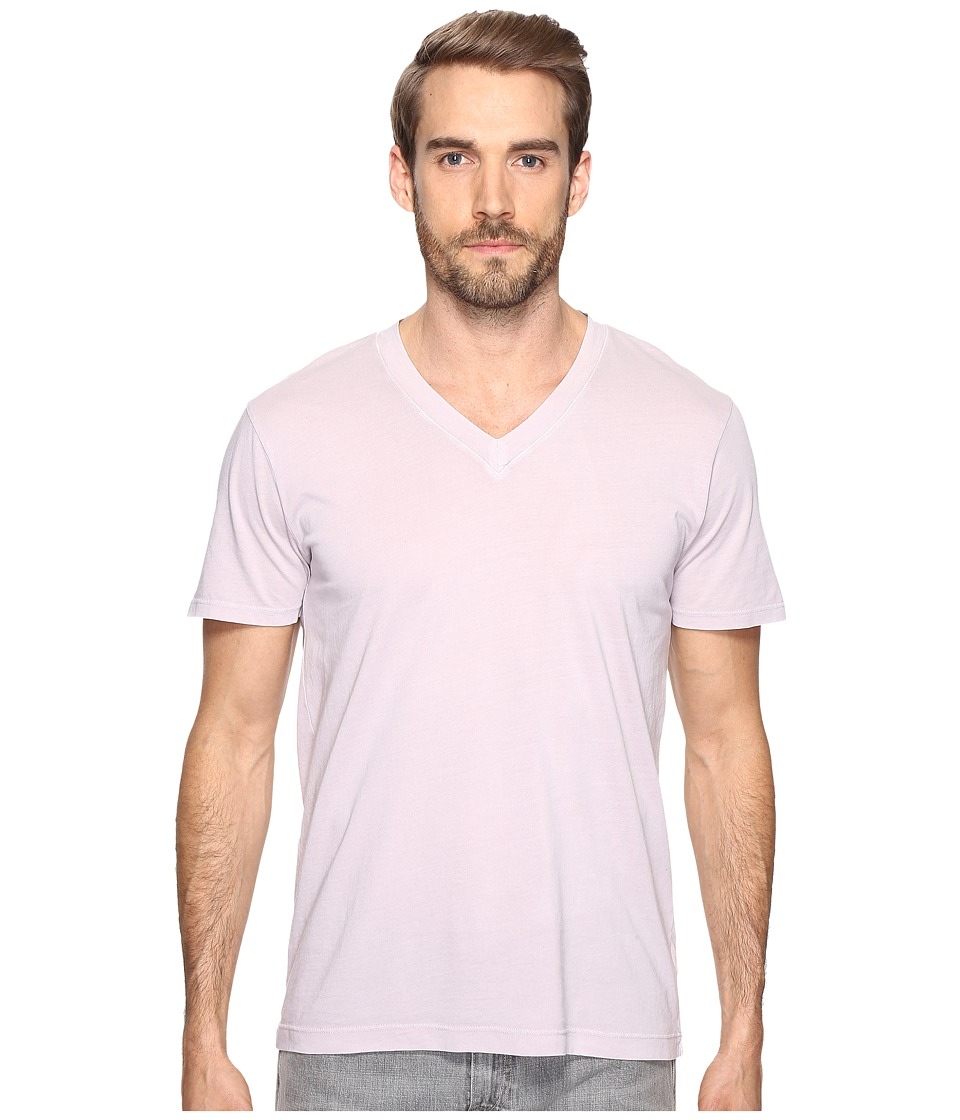Splendid Mills - Pigment Dye Short Sleeve V-Neck (Vintage Drizzle) Men's Clothing