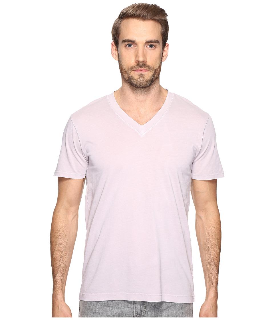 Splendid Mills - Pigment Dye Short Sleeve V-Neck (Vintage Drizzle) Men's Clothing