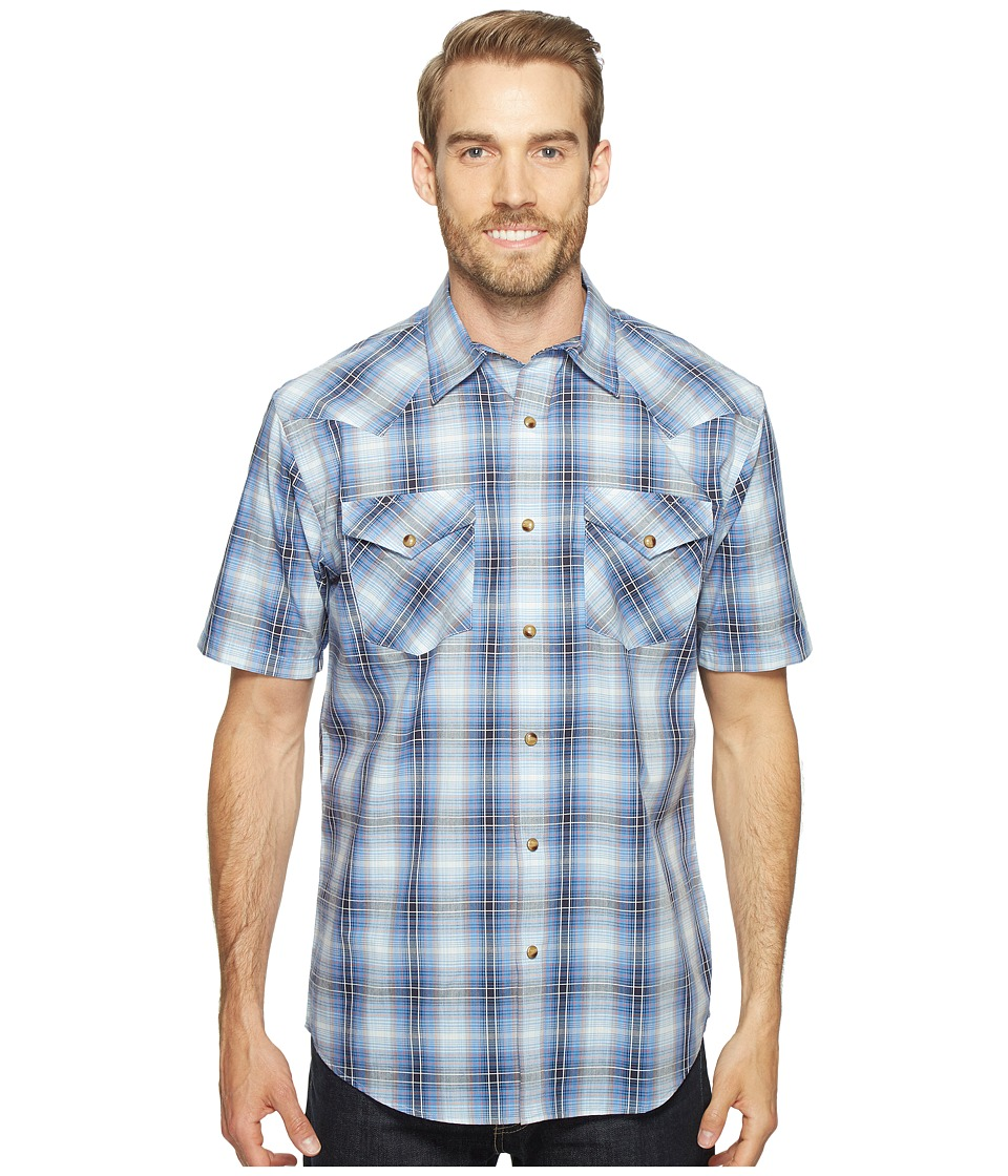 Pendleton - Frontier Shirt Short Sleeve (Blue) Men's Short Sleeve Button Up