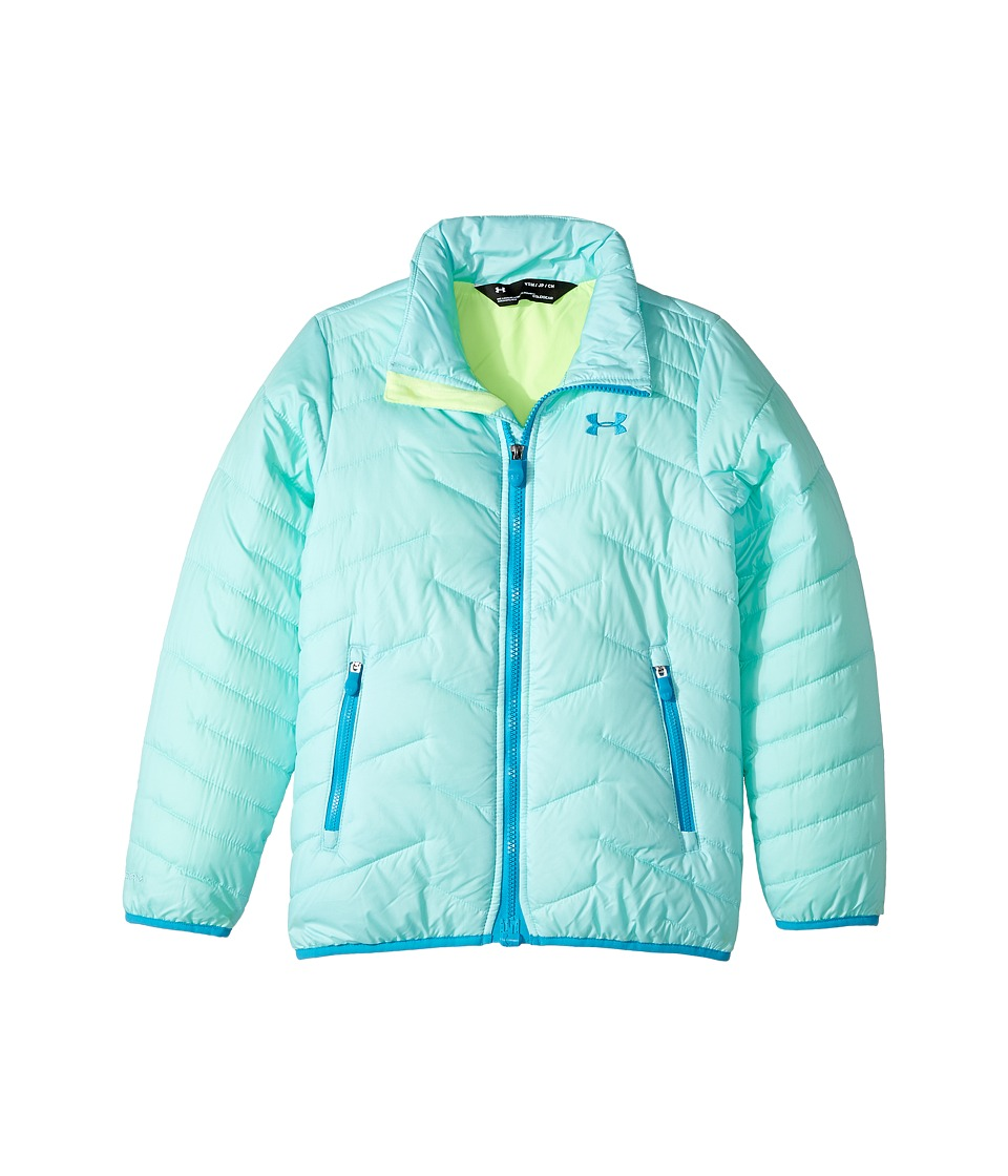 Under Armour Kids UA ColdGear Jacket (Big Kids) (Blue Infinity/Quirky Lime/Blue Shift) Girl