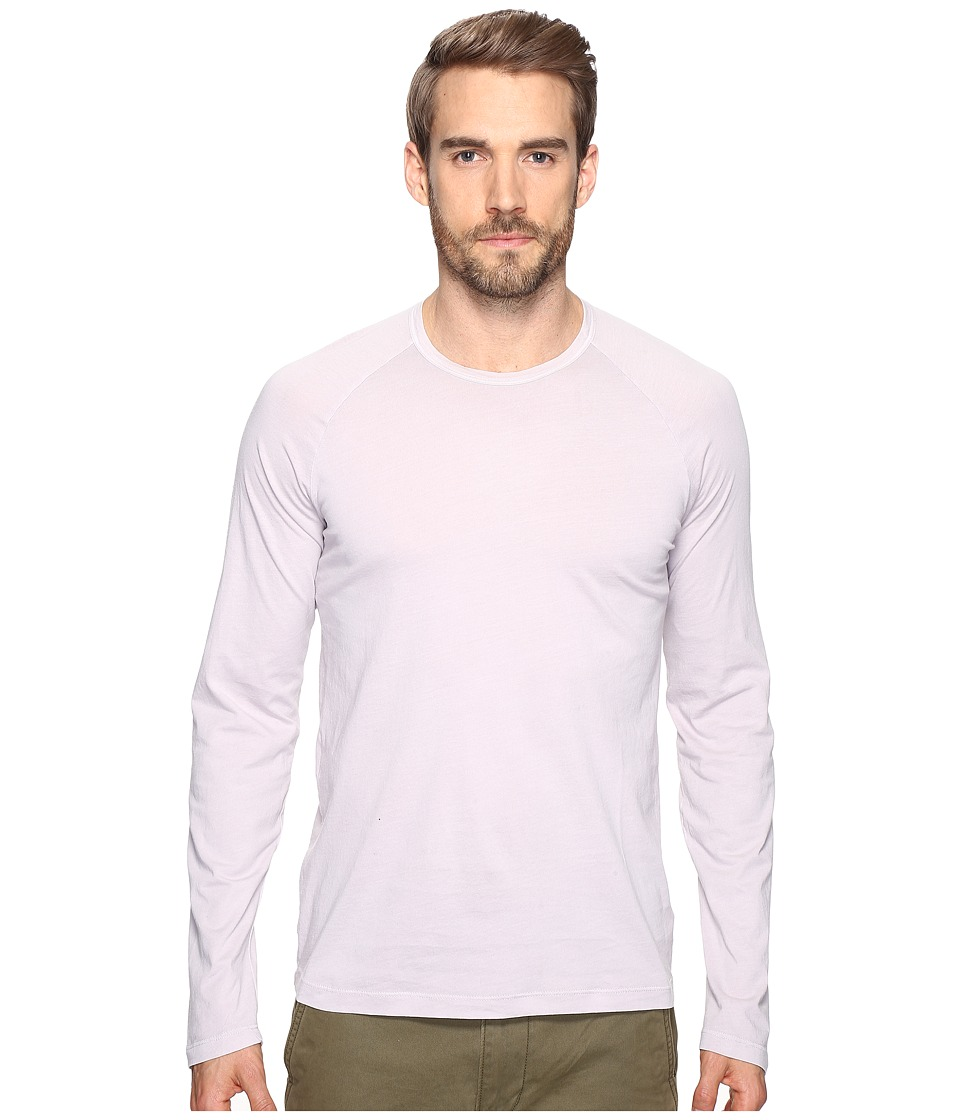 Splendid Mills - Long Sleeve Pigment Dye Crew (Vintage Drizzle) Men's Clothing