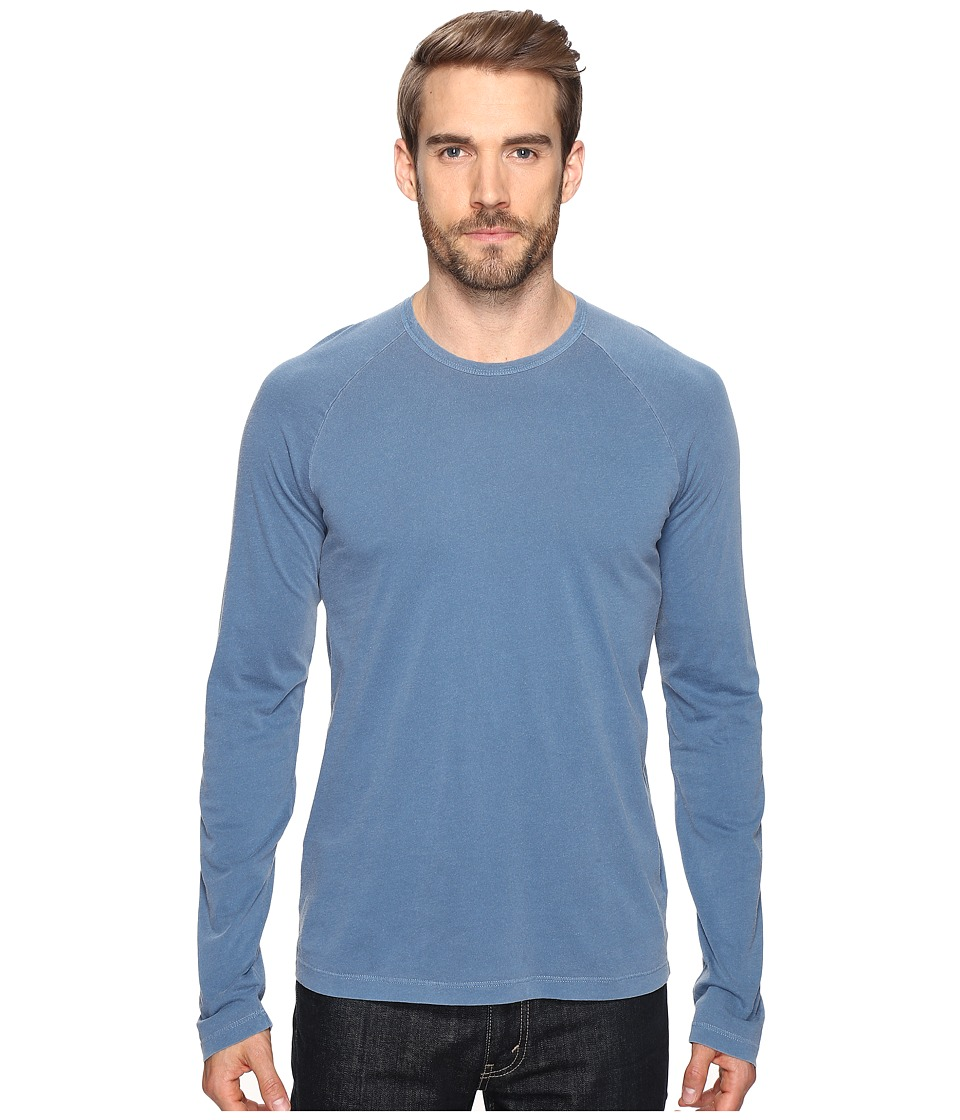 Splendid Mills - Long Sleeve Pigment Dye Crew (Vintage Cashmere Blue) Men's Clothing
