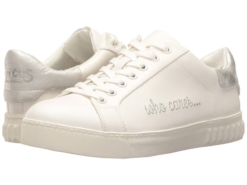 Circus by Sam Edelman Cyrus Bright White-Soft Silver Who Cares Sport Rubber-Safari Kid Womens Shoes