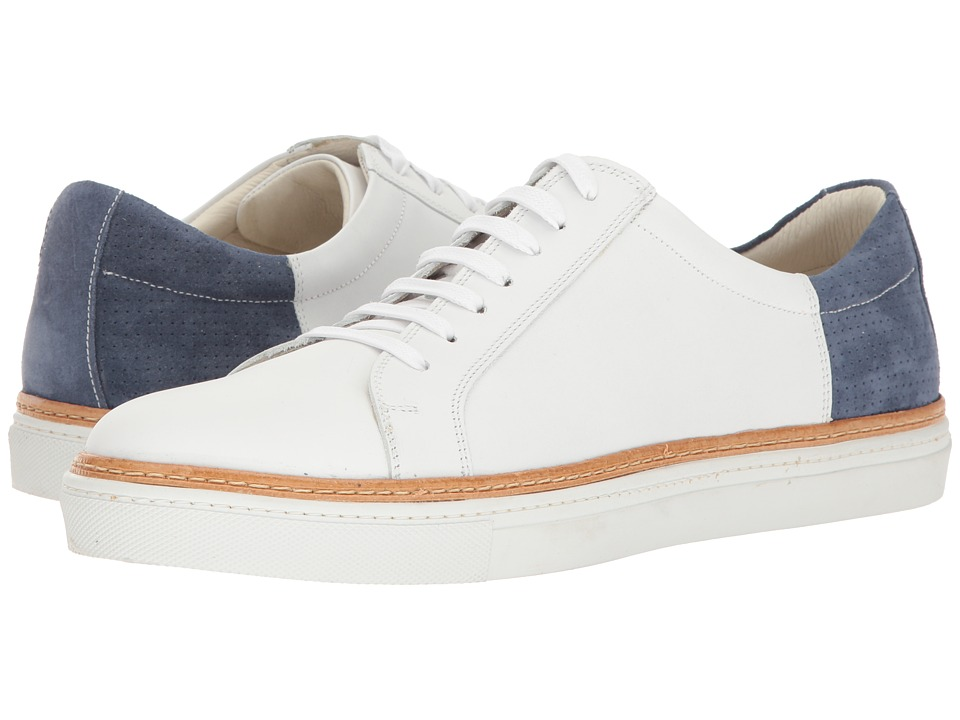 Kenneth Cole New York - Premire Show (White/Navy) Men's Lace up casual Shoes