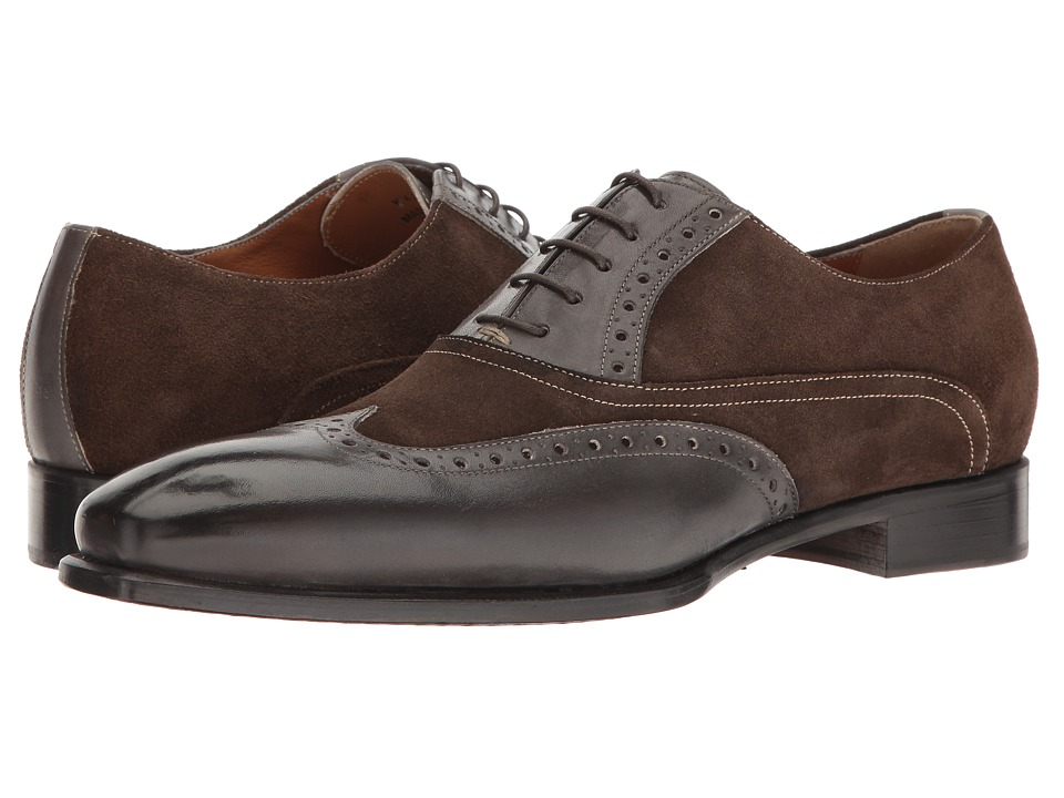 Kenneth Cole New York - Coat Armour (Grey) Men's Lace Up Wing Tip Shoes