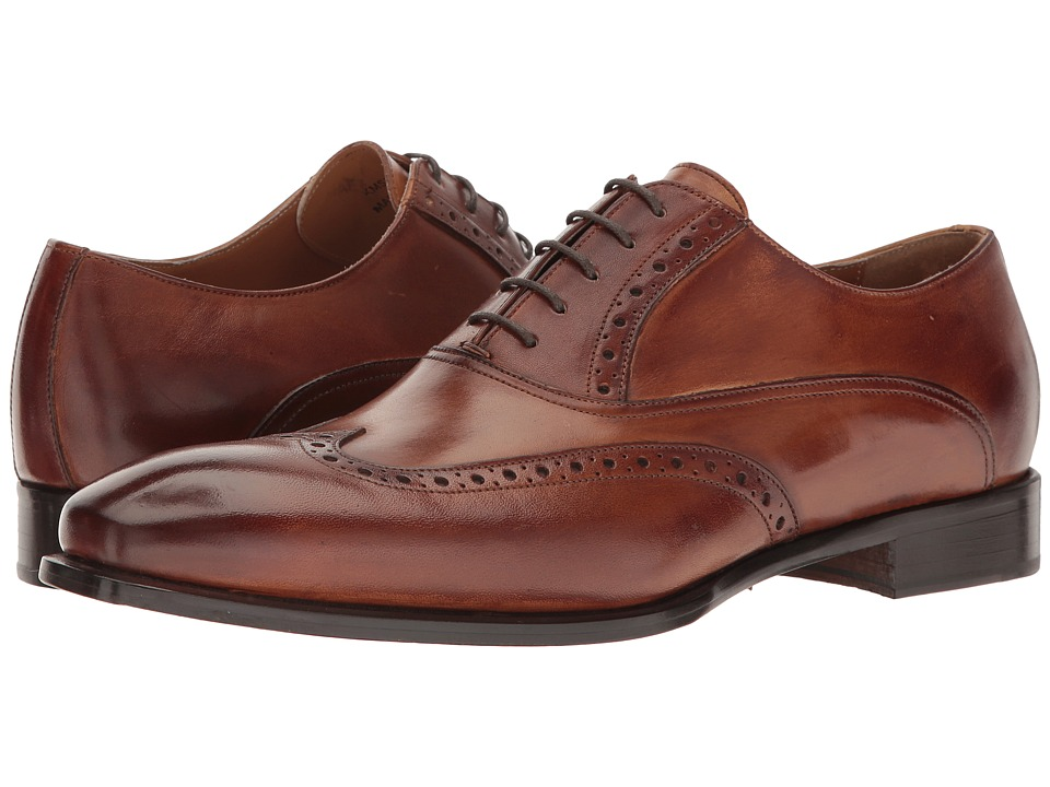 Kenneth Cole New York - Coat Armour (Cognac) Men's Lace Up Wing Tip Shoes