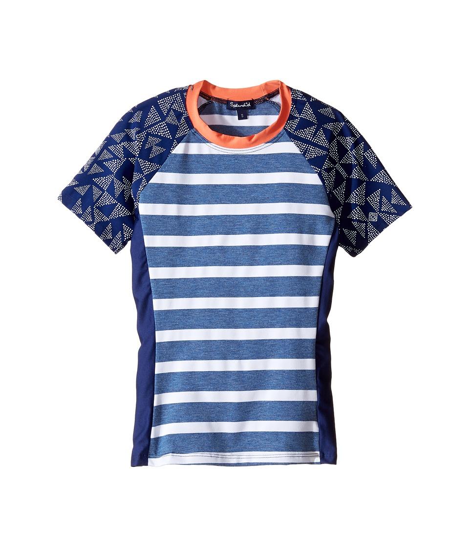 Splendid Littles Chambray Cottage Surf Shirt Cover-Up (Big Kids) (Indigo) Girl