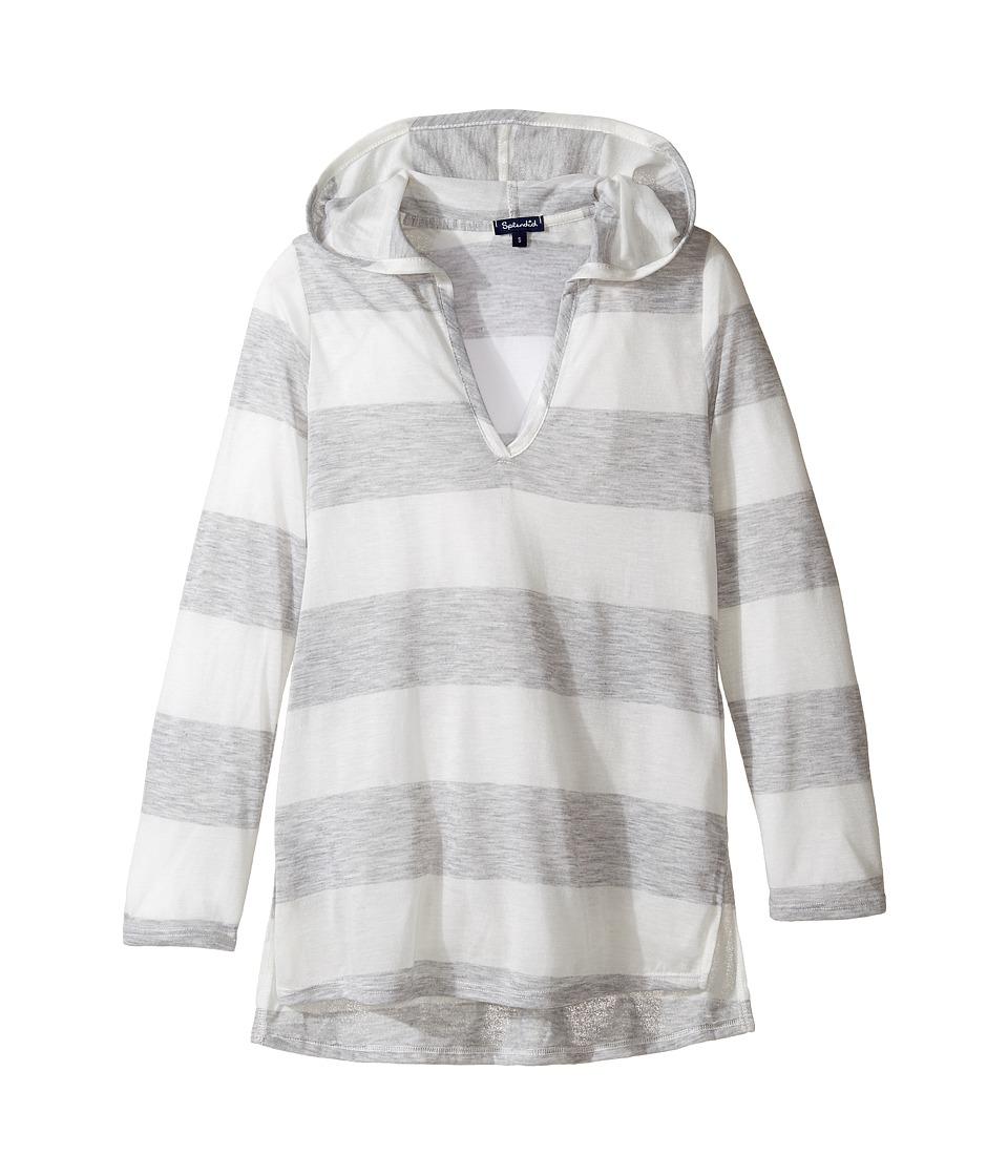 Splendid Littles - Homespun Hoodie Tunic Cover-Up (Big Kids) (Grey) Girl's Swimwear