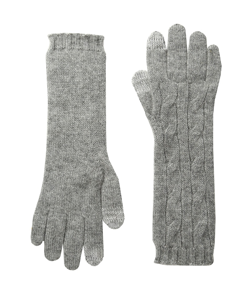 Polo Ralph Lauren - Cashmere Cable Touch Gloves (Fawn Grey Heather) Extreme Cold Weather Gloves