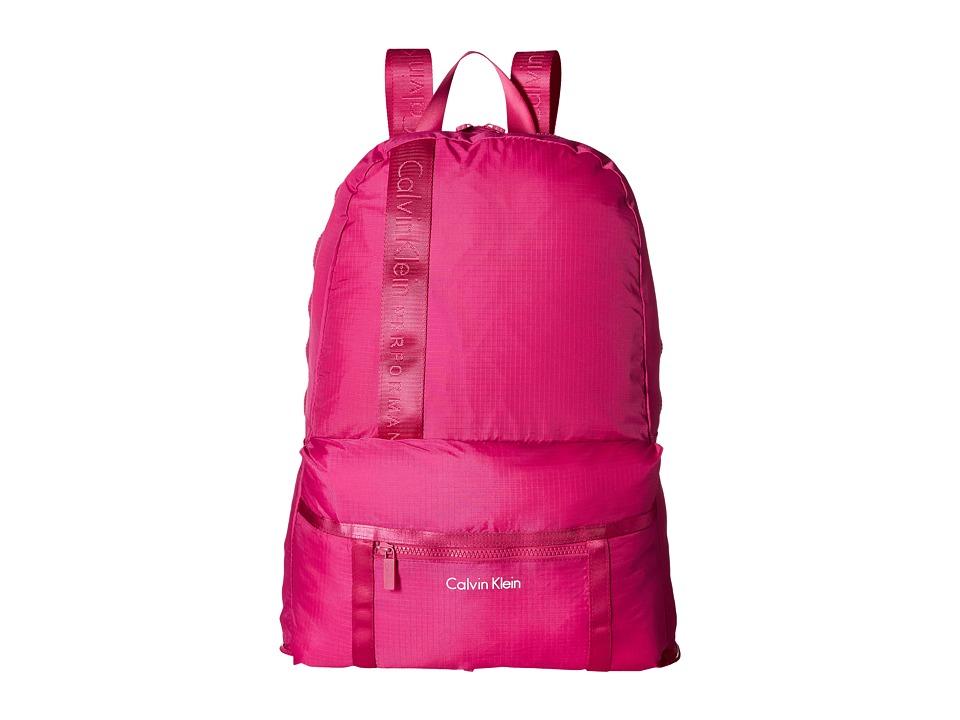 Calvin Klein - Packable Backpack (Berry) Backpack Bags