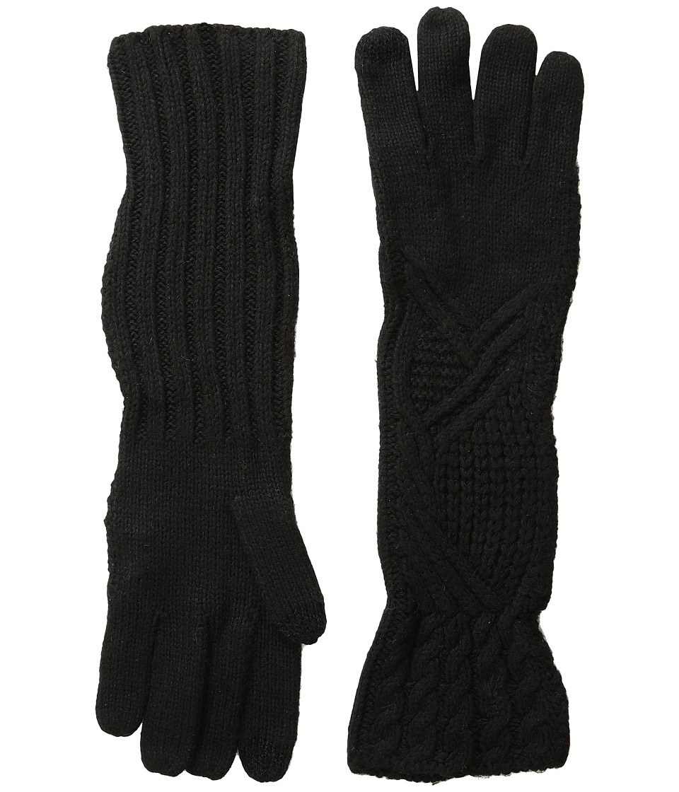 Polo Ralph Lauren - Abstract Traveling Cable Gloves (Black) Extreme Cold Weather Gloves