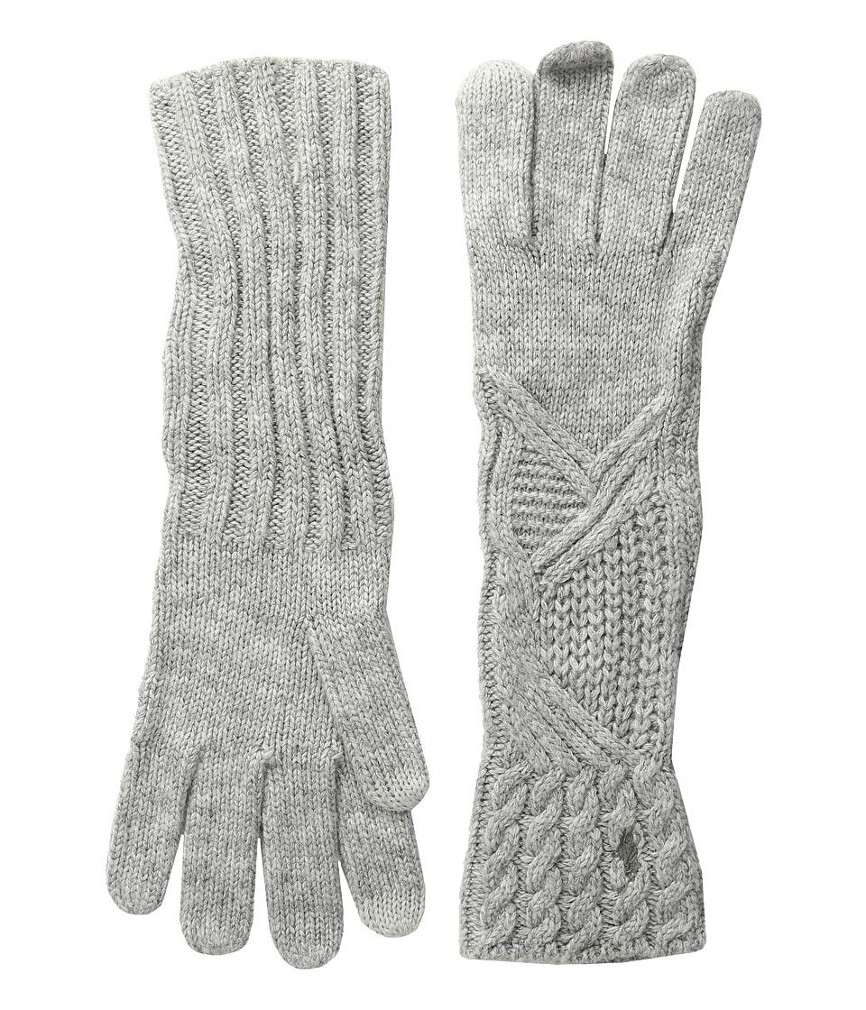 Polo Ralph Lauren - Abstract Traveling Cable Gloves (Fawn Grey Heather) Extreme Cold Weather Gloves