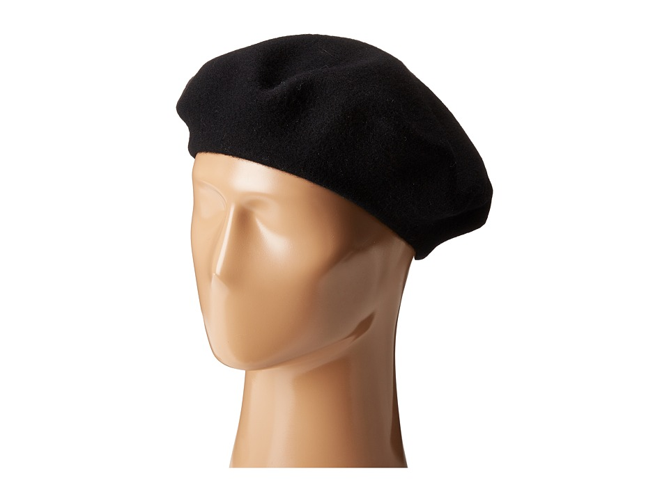 Polo Ralph Lauren - Classic Felted Wool Beret (Black) Berets