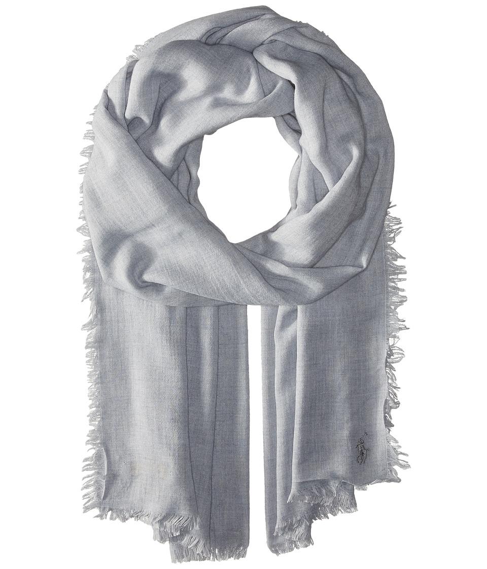 Polo Ralph Lauren - Melange Marais Wrap (Fawn Grey Heather) Scarves