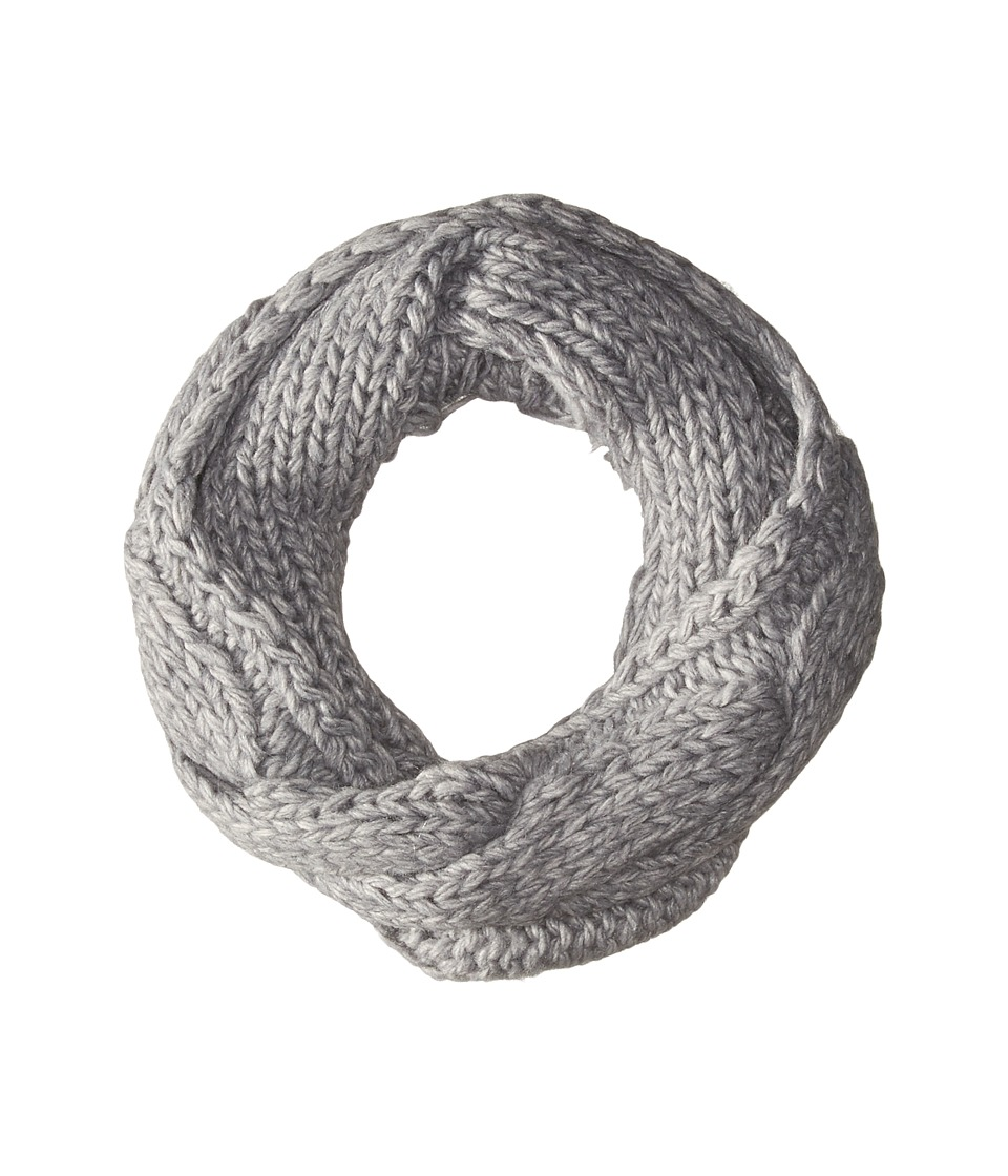 Polo Ralph Lauren - Fringed Chunky Cable Neck Funnel Scarf (Dark Grey Heather) Scarves