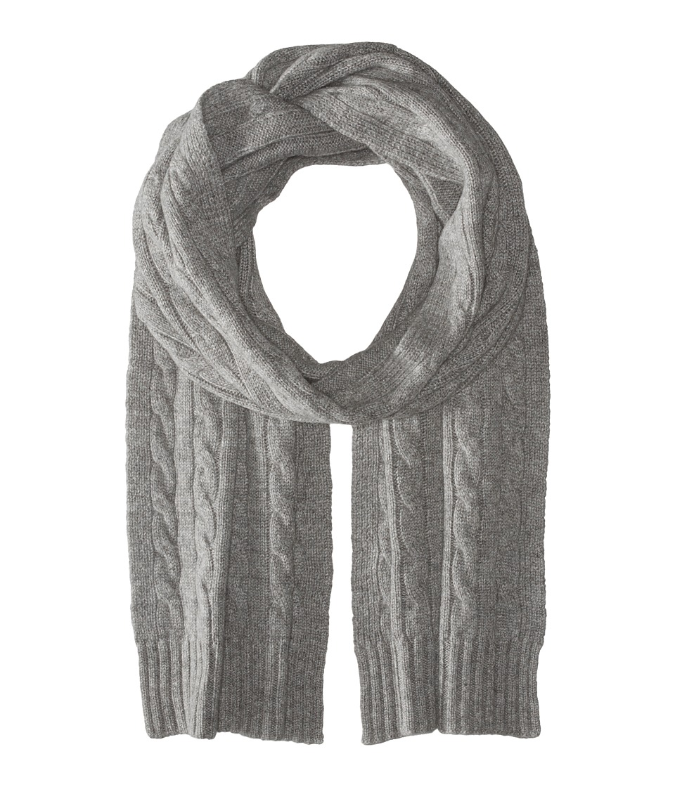 Polo Ralph Lauren - Cashmere Classic Cable Scarf (Fawn Grey Heather) Scarves