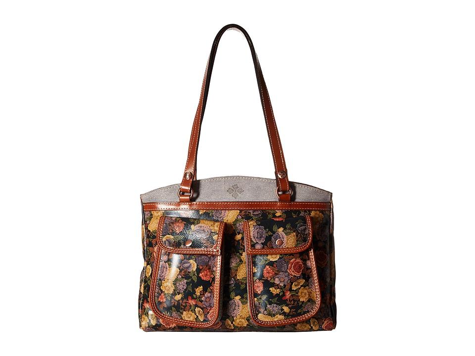 Patricia Nash - Belver Top Zip Tote (Denim Fields Olive) Top-Zip Handbags