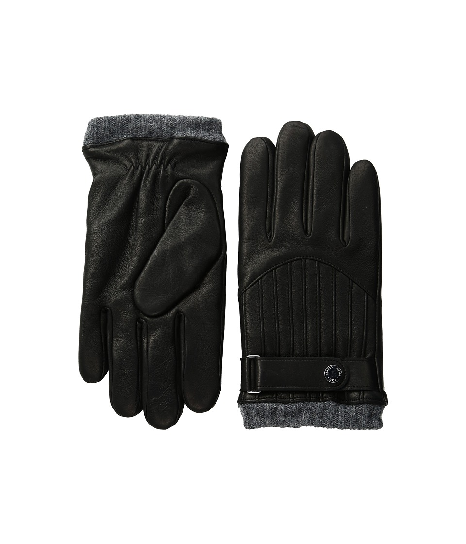 Polo Ralph Lauren - Quilted Racing Gloves (Black) Extreme Cold Weather Gloves