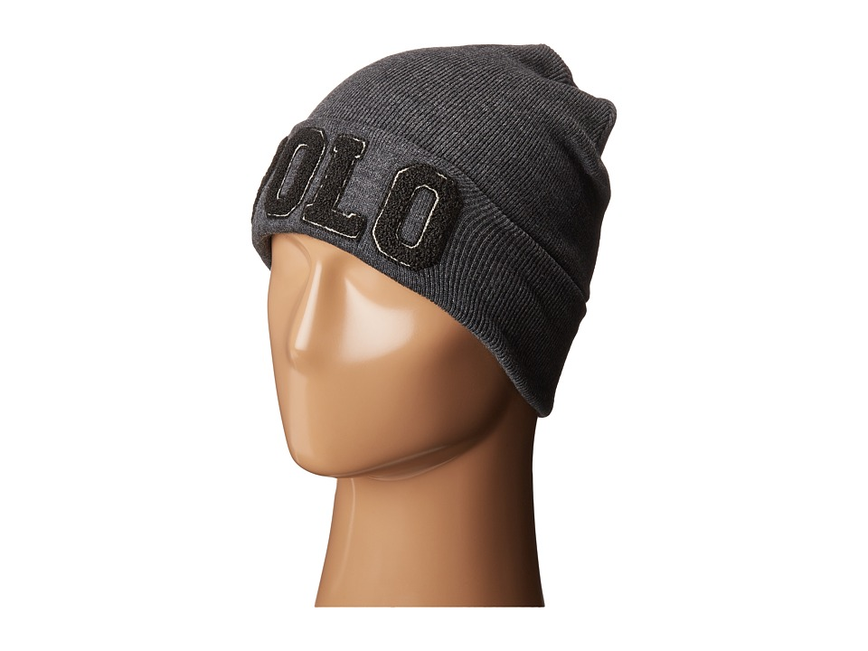 Polo Ralph Lauren - Polo Chenille Varisty Hat (Charcoal/Black) Caps