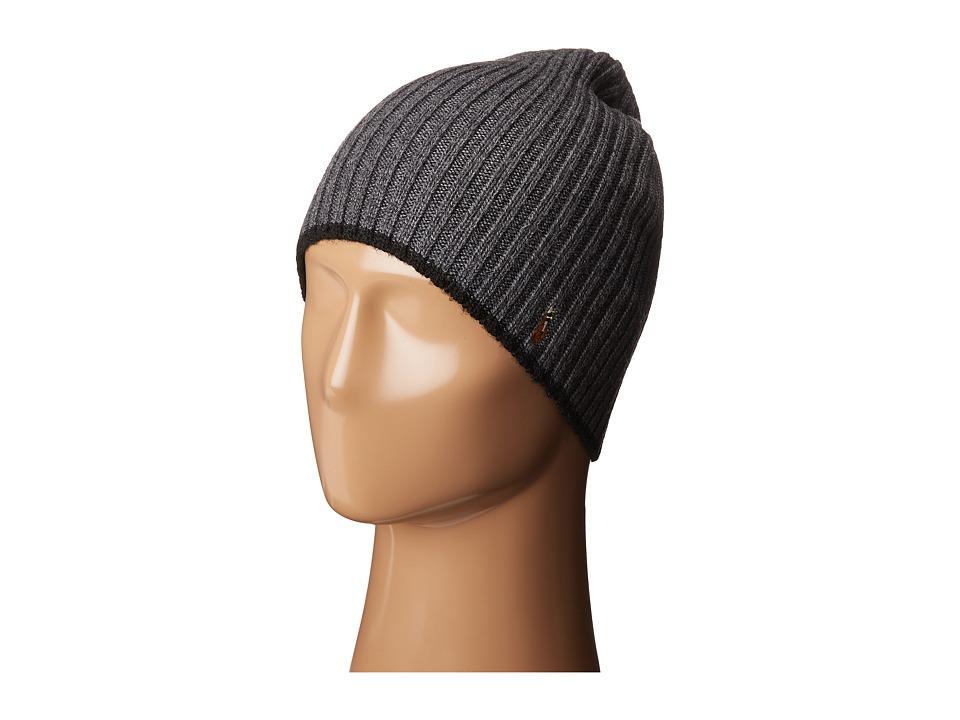 Polo Ralph Lauren - Classic Lux Merino Wool Cap (Charcoal) Caps