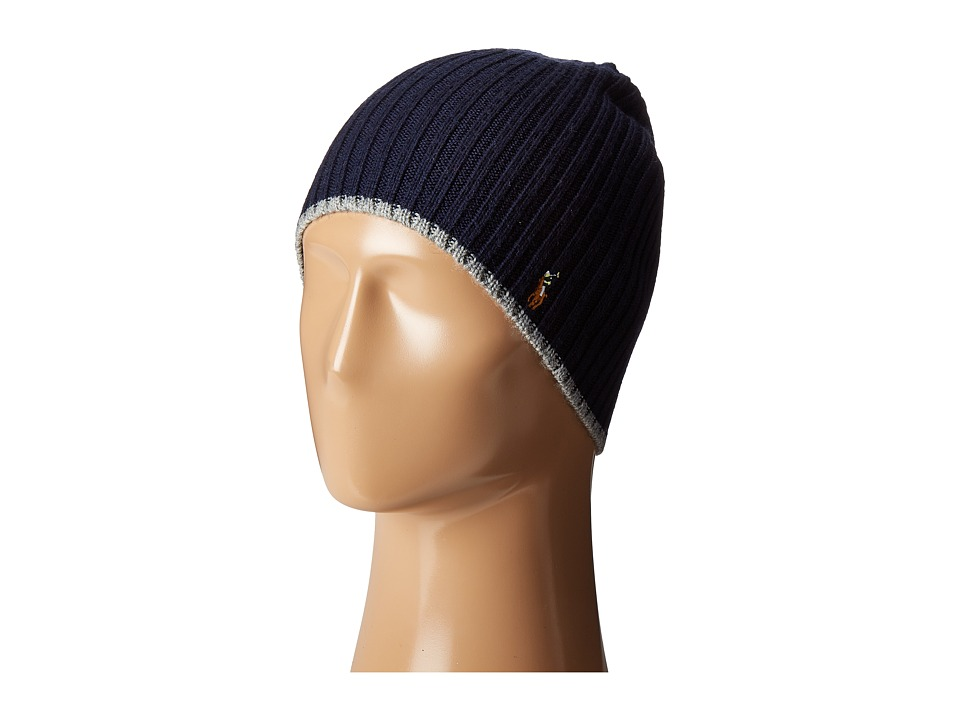Polo Ralph Lauren - Classic Lux Merino Wool Cap (Hunter Navy) Caps