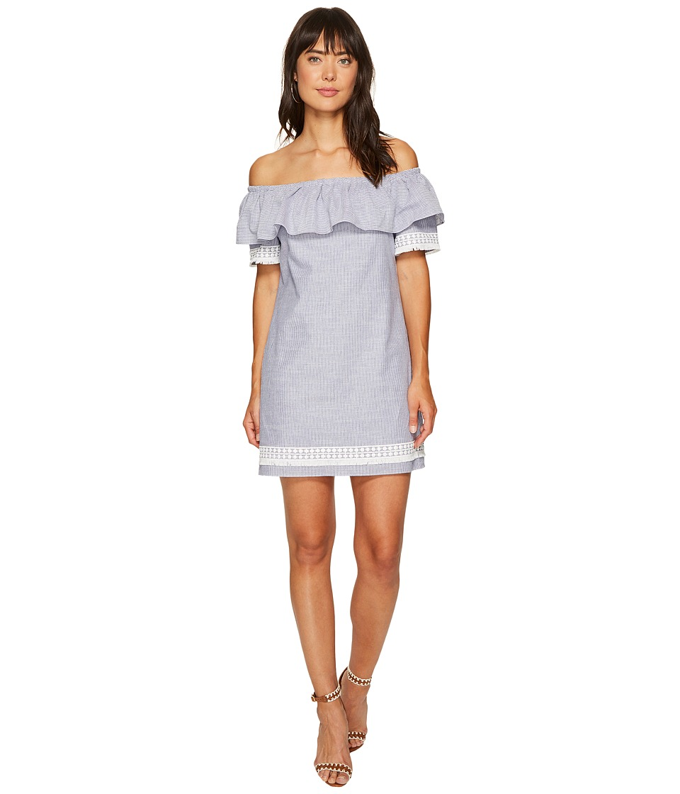 Tahari by ASL - Chambray Stripe Shift Dress (Chambray Blue) Women's Dress