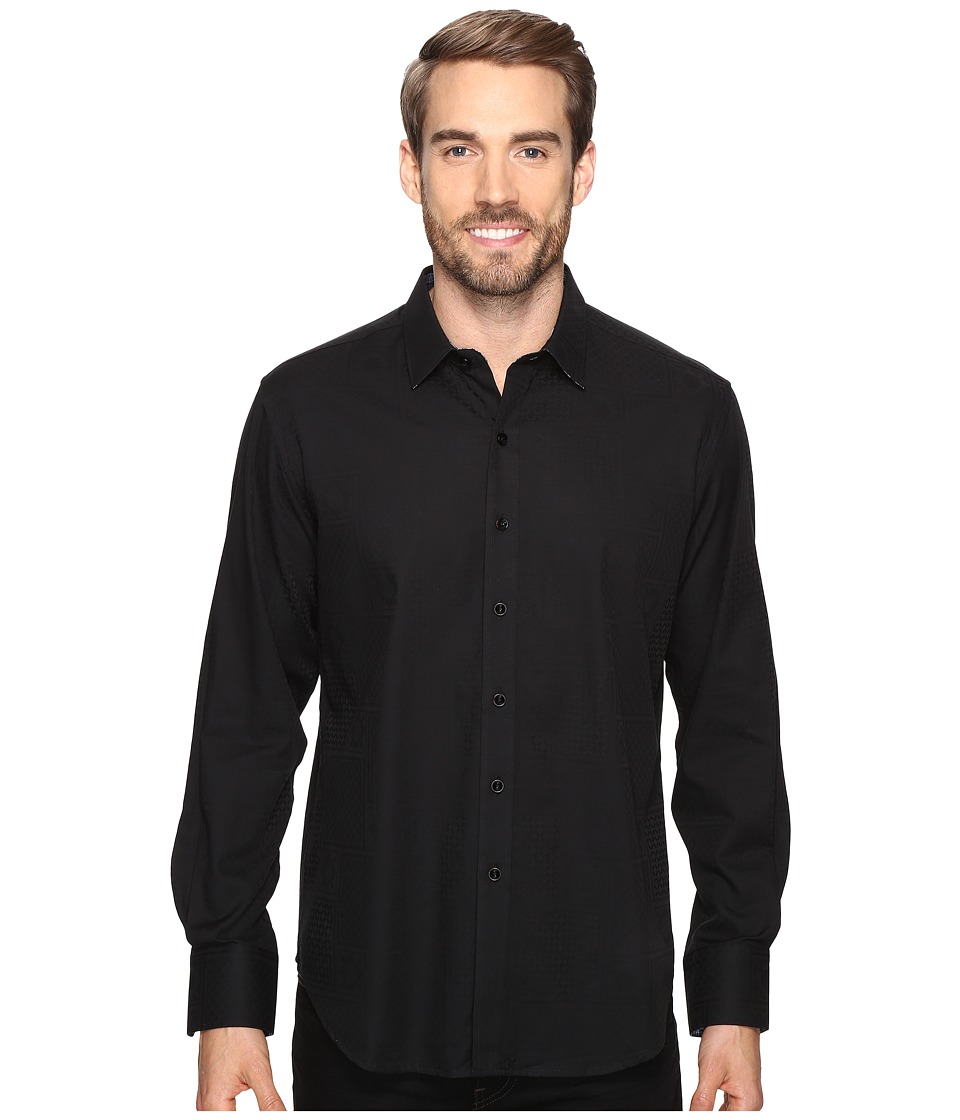 Robert Graham - Lazzaro Long Sleeve Woven Shirt (Black) Men's Clothing