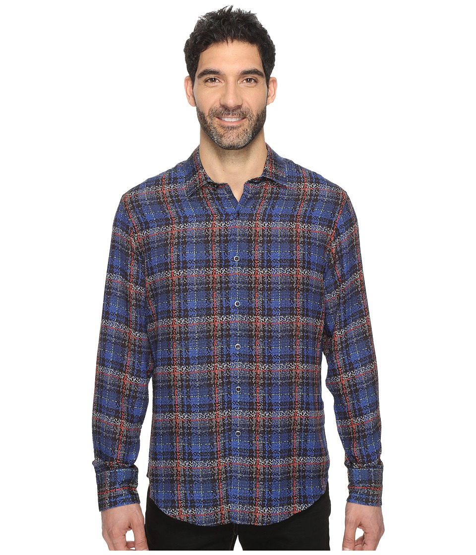 Robert Graham - Concordia Long Sleeve Woven Shirt (Black) Men's Clothing